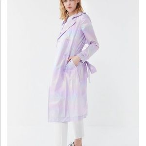 NWT Avec Les Filles Iridescent Trench Coat size s